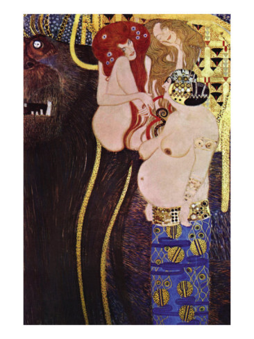 The Beethoven Frieze - Gustav Klimt Painting
