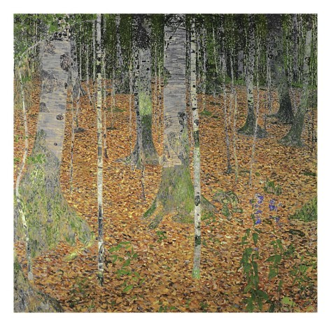 The Birch Wood - Gustav Klimt Painting