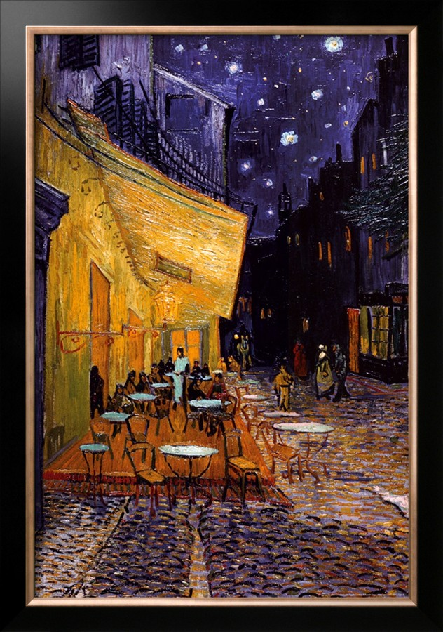 The Cafe Terrace on the Place du Forum, Arles, at Night - Vincent Van Gogh Paintings