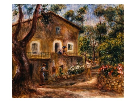 The Collette House in Cagnes - Pierre Auguste Renoir Painting