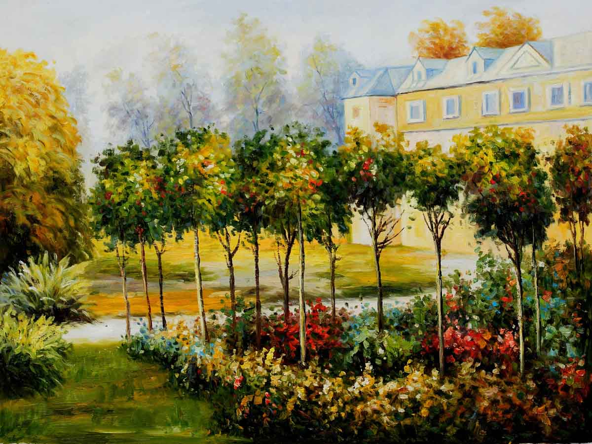 The Garden at Fontenay, 1874 - Pierre Auguste Renoir Painting