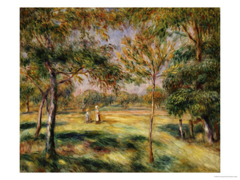 The Glade, 1895 - Pierre Auguste Renoir Painting