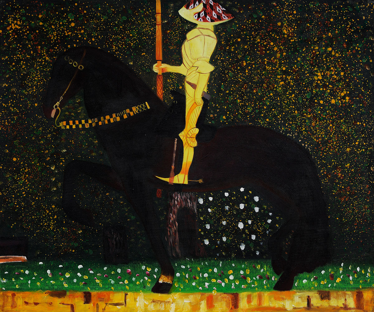 The Golden Knight - Gustav Klimt Painting