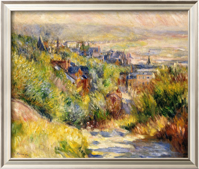 The Heights at Trouville - Pierre Auguste Renoir Painting