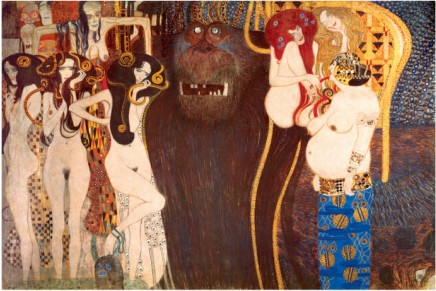 The Hostile Force, C.1902 - Gustav Klimt Painting