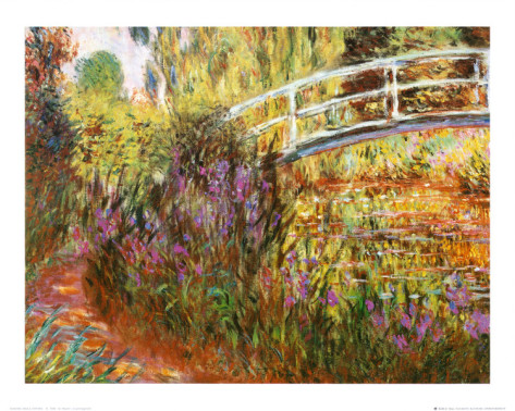 The Japanese Bridge-Claude Monet Painting