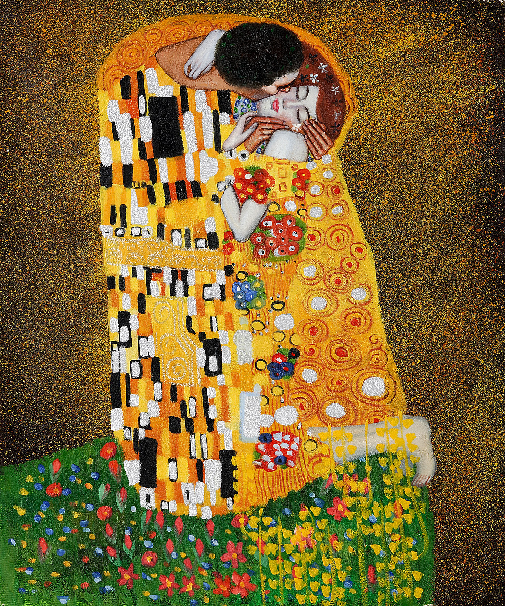 The Kiss Fullview - Gustav Klimt Painting
