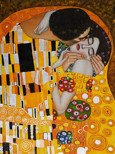 The Kiss Detail - Gustav Klimt Painting