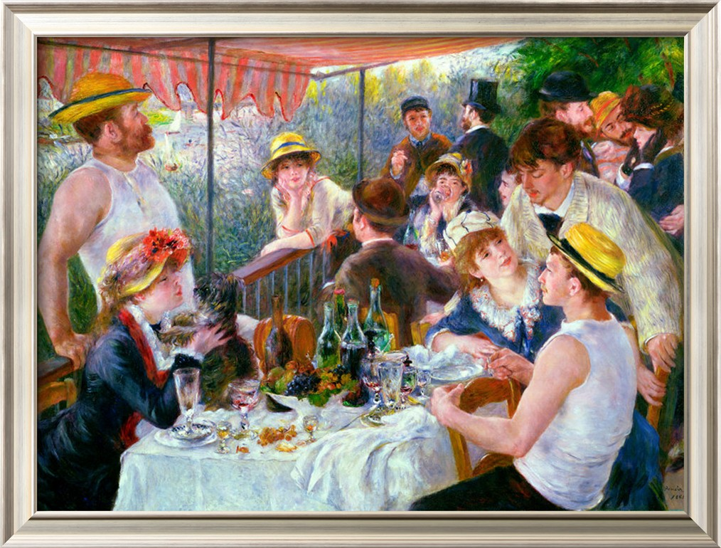 The Luncheon of the Boating Party, c.1881 - Pierre Auguste Renoir Painting