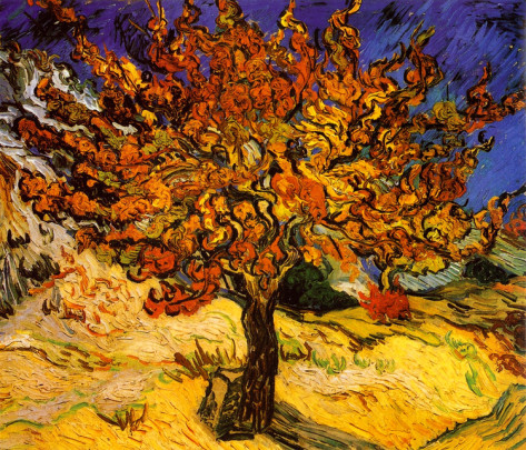The Mulberry Tree - Vincent Van Gogh Paintings