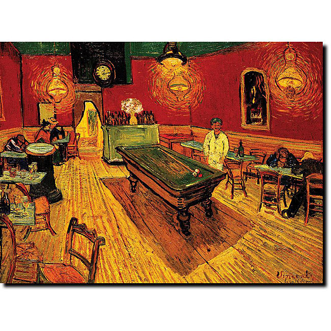 The Night Cafe-Vincent Van Gogh oil on canvas