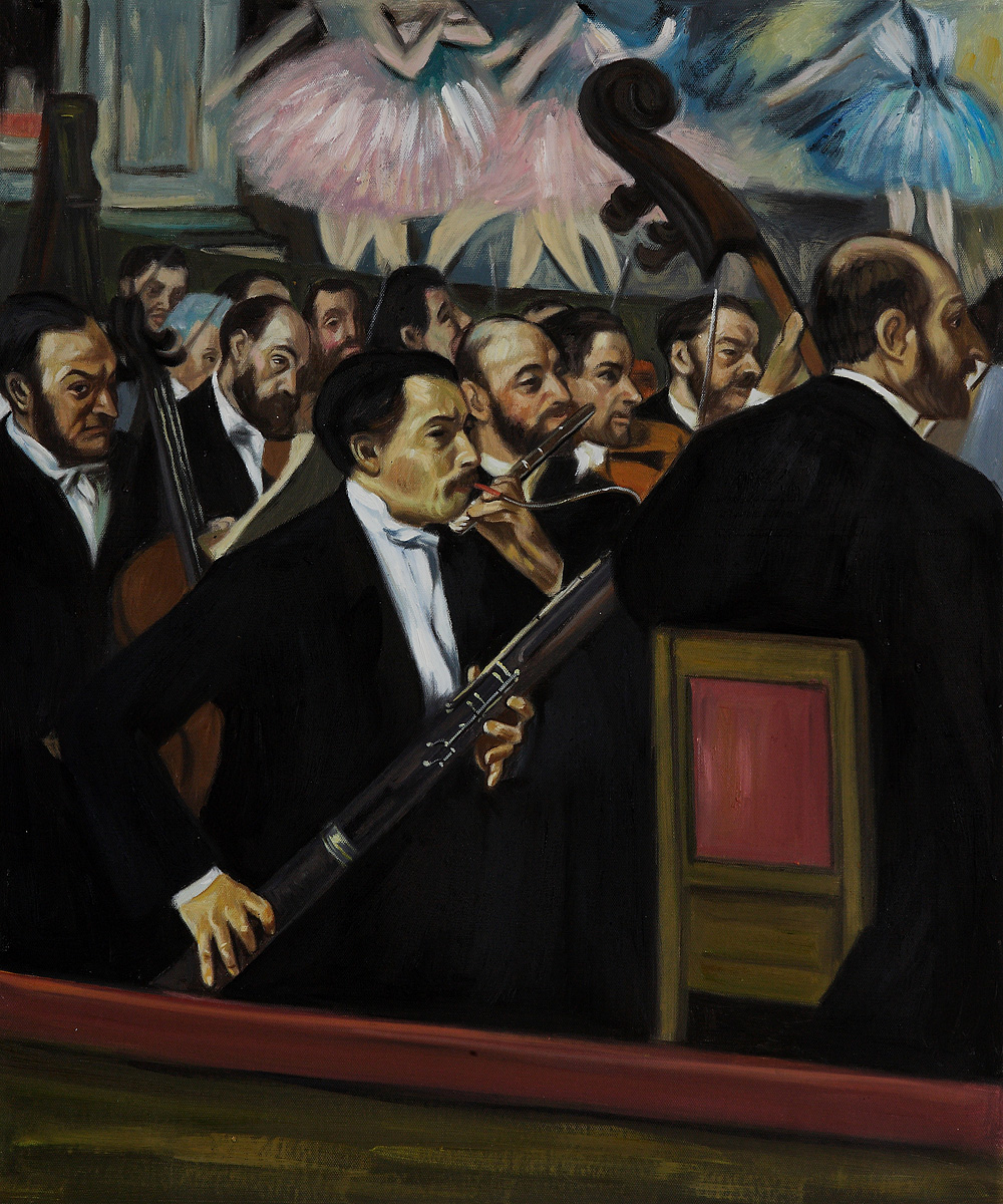 The Orchestra at the Opera by Edgar Degas