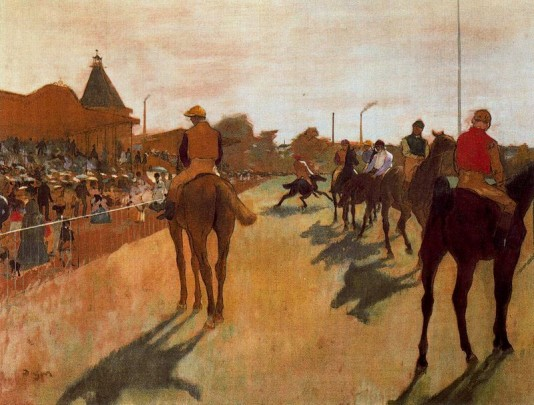 The Parade - 1866-1868 by Edgar Degas