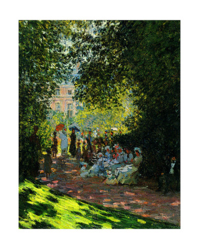 The Parc Monceau-Claude Monet Painting