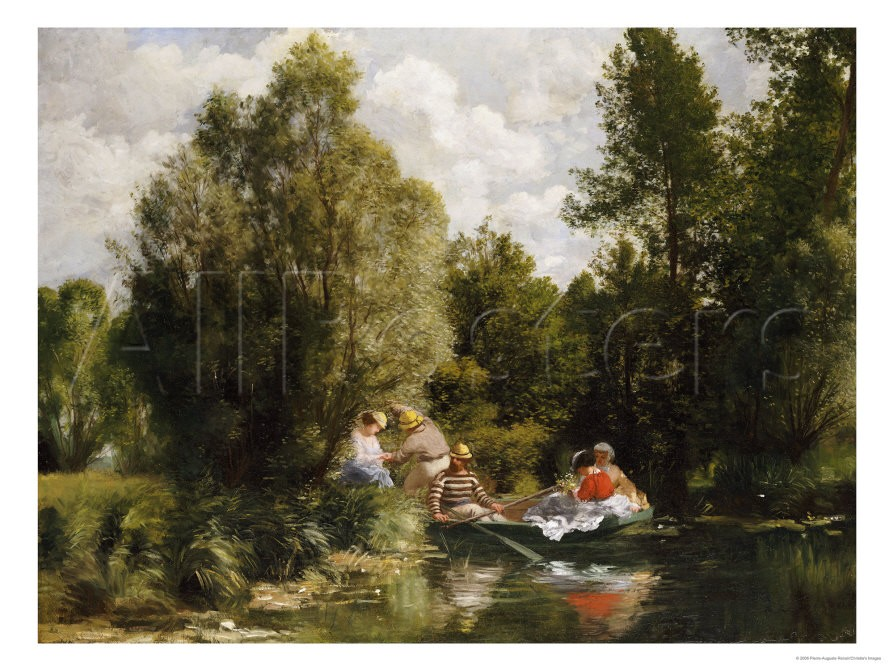 The Pond at Fees - Pierre Auguste Renoir Painting