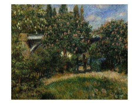 The Railway Bridge at Chatou - Pierre Auguste Renoir Painting