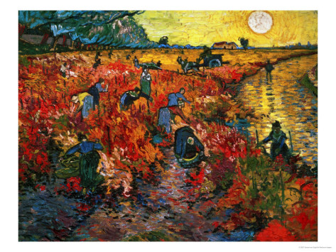 The Red Vineyard at Arles,c.1888 - Vincent Van Gogh Paintings