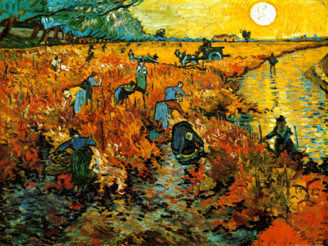 The Red Vineyard at Arles - Vincent Van Gogh Paintings