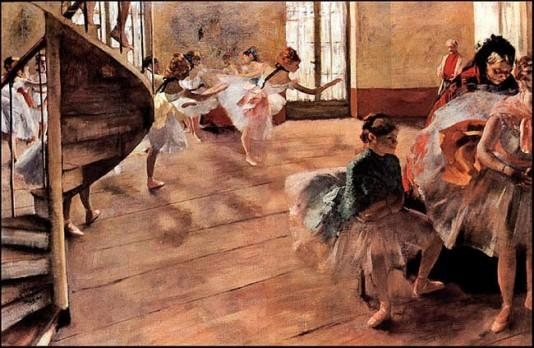 The Rehearsal - 1877 by Edgar Degas