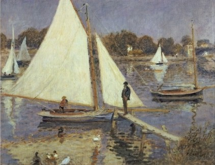 The Seine at Argenteuil 1874 - Pierre Auguste Renoir Painting