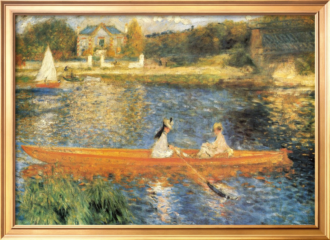 The Seine at Asnieres - Pierre Auguste Renoir Painting