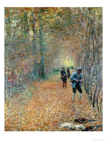 The Shoot, 1876-Claude Monet Painting
