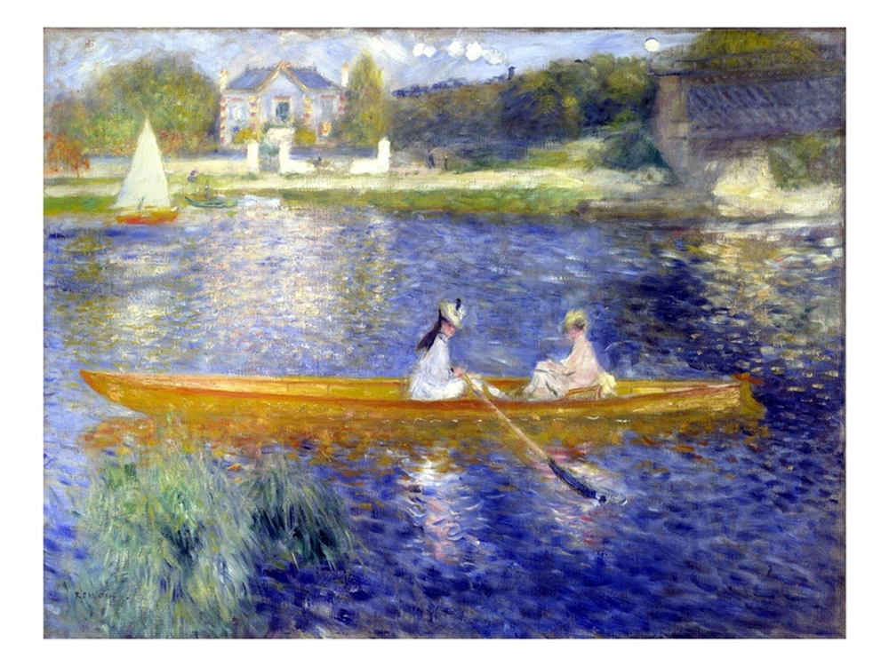 The Skiff La Yole - Pierre Auguste Renoir Painting & Bathers In Front Of A Tent Wholesale Paul Cezanne oil painting ...