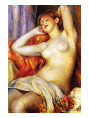 The Sleeping - Pierre Auguste Renoir Painting