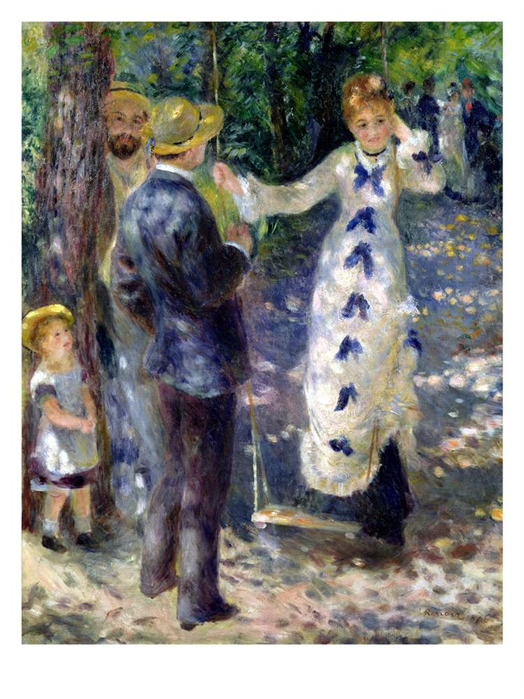 The Swing - Pierre Auguste Renoir Painting