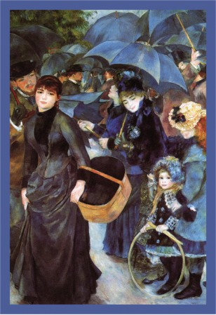 The Umbrellas - Pierre Auguste Renoir Painting