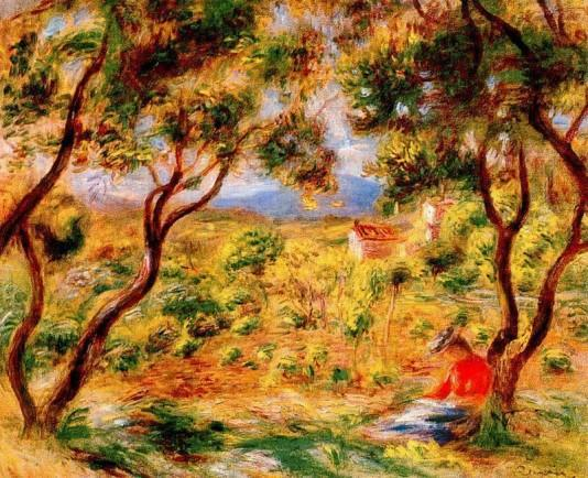 The Vines at Cagnes - 1908 - Pierre Auguste Renoir Painting