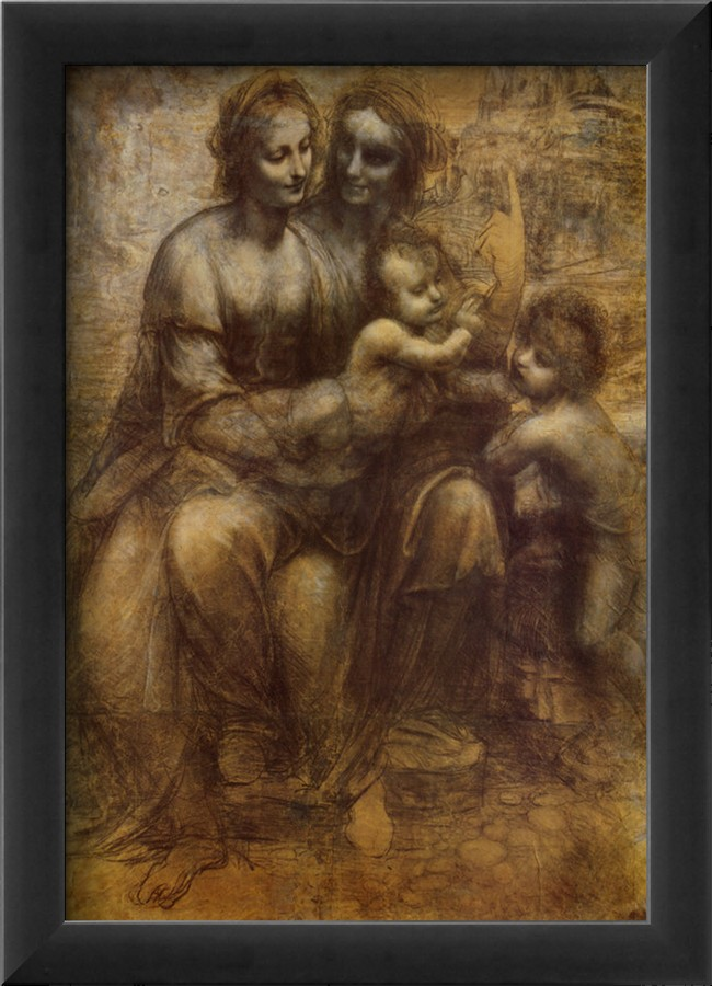 The Virgin And Child With St. Anne - Leonardo Da Vinci Painting