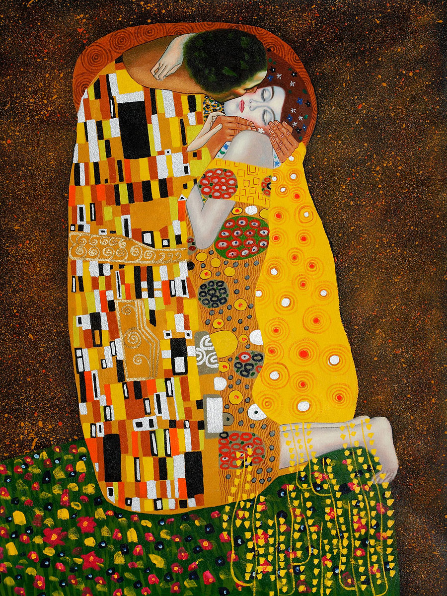 The Kiss - Gustav Klimt Painting