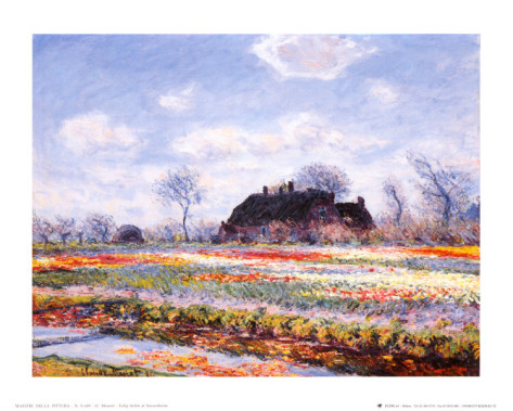 Tulip Fields At Sasenheim-Claude Monet Painting