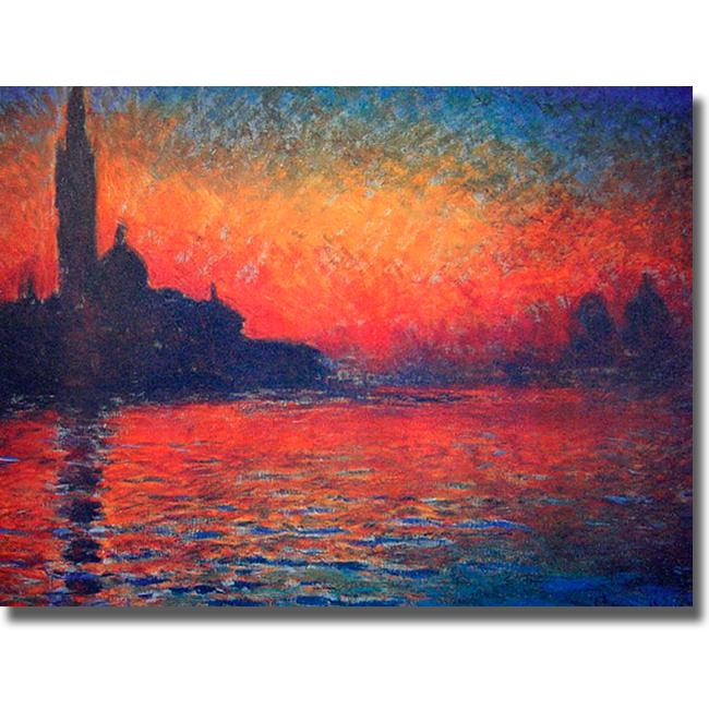 Twilight-Claude Monet Painting