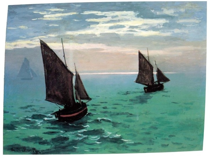 Two Sailboats-Claude Monet Painting
