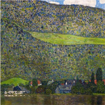 Unterach On Lake Attersee, Austria, 1915 - Gustav Klimt Painting
