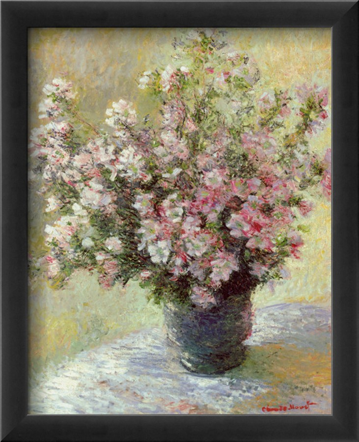 Vase Of Flowers-Claude Monet Painting