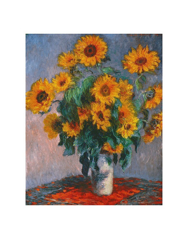 Vase Of Sunflowers-Claude Monet Painting