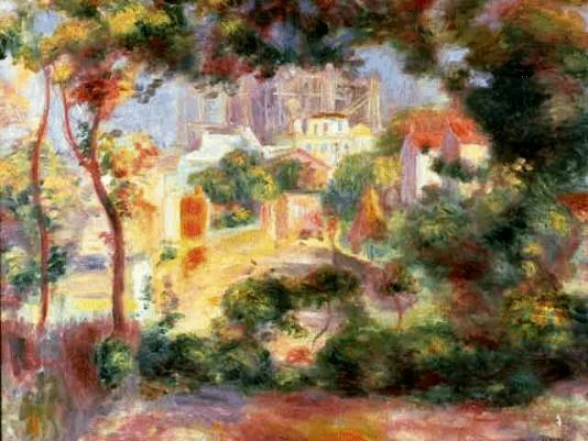 View from Sacre Coeur - 1896 - Pierre Auguste Renoir Painting