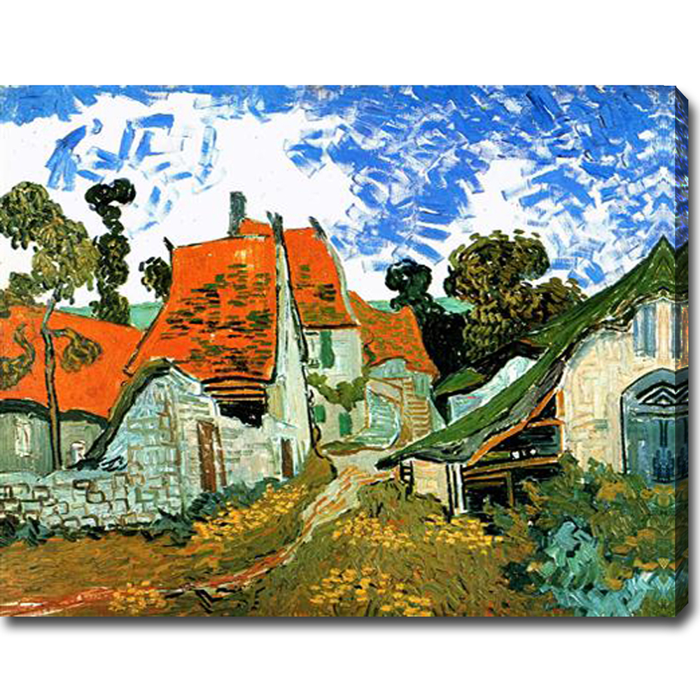 Village Street in Auvers-Vincent Van Gogh oil on canvas