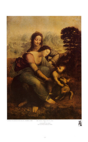 Virgin And Child With St.Anne, Circa 1510 - Leonardo Da Vinci Painting