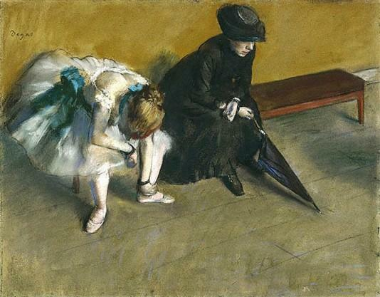 Waiting - 1882 by Edgar Degas