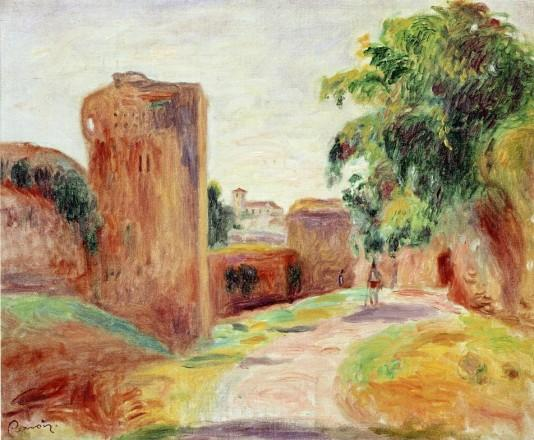 Walls in Spain - 1892 - Pierre Auguste Renoir Painting