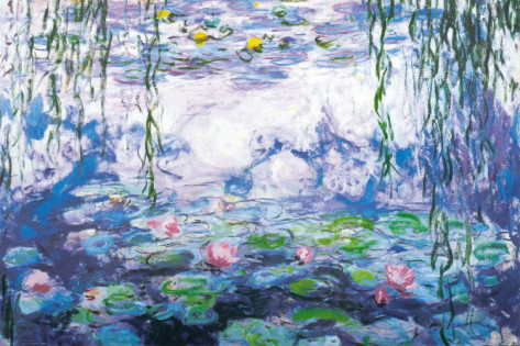 Water Lilies Detailed-Claude Monet Painting