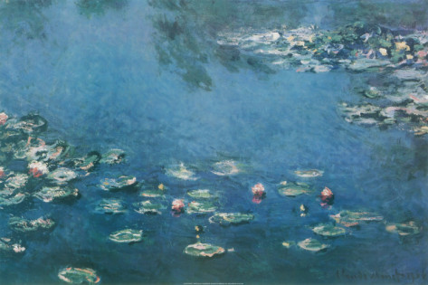 Waterlilies - Claude Monet Painting