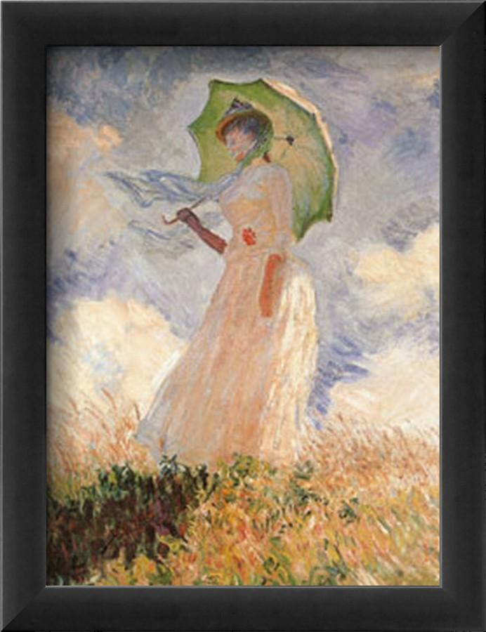 Woman Umbrella Monet Woman With Umbrella-claude