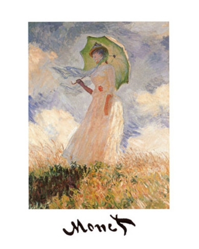 Woman With Umbrella-Claude Monet Painting