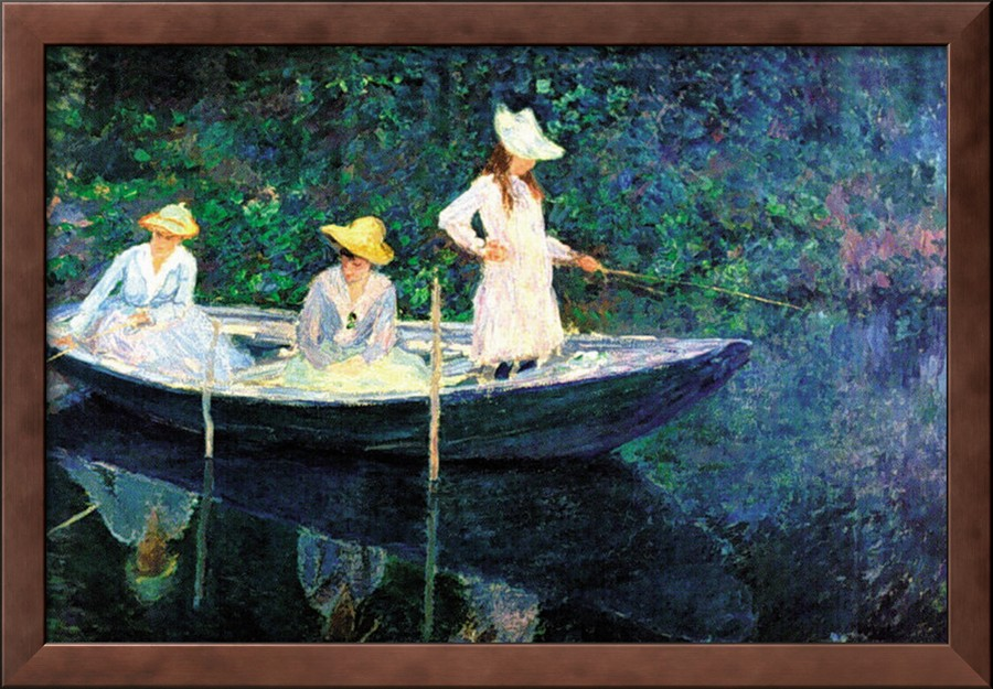 Women Fishing-Claude Monet Painting